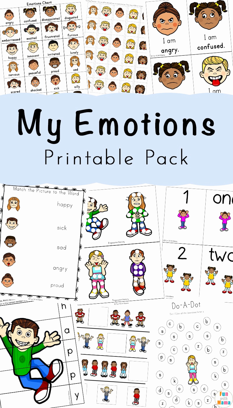 Emotions Worksheets for Preschoolers Lovely Feelings Activities Emotions Worksheets for Kids Fun