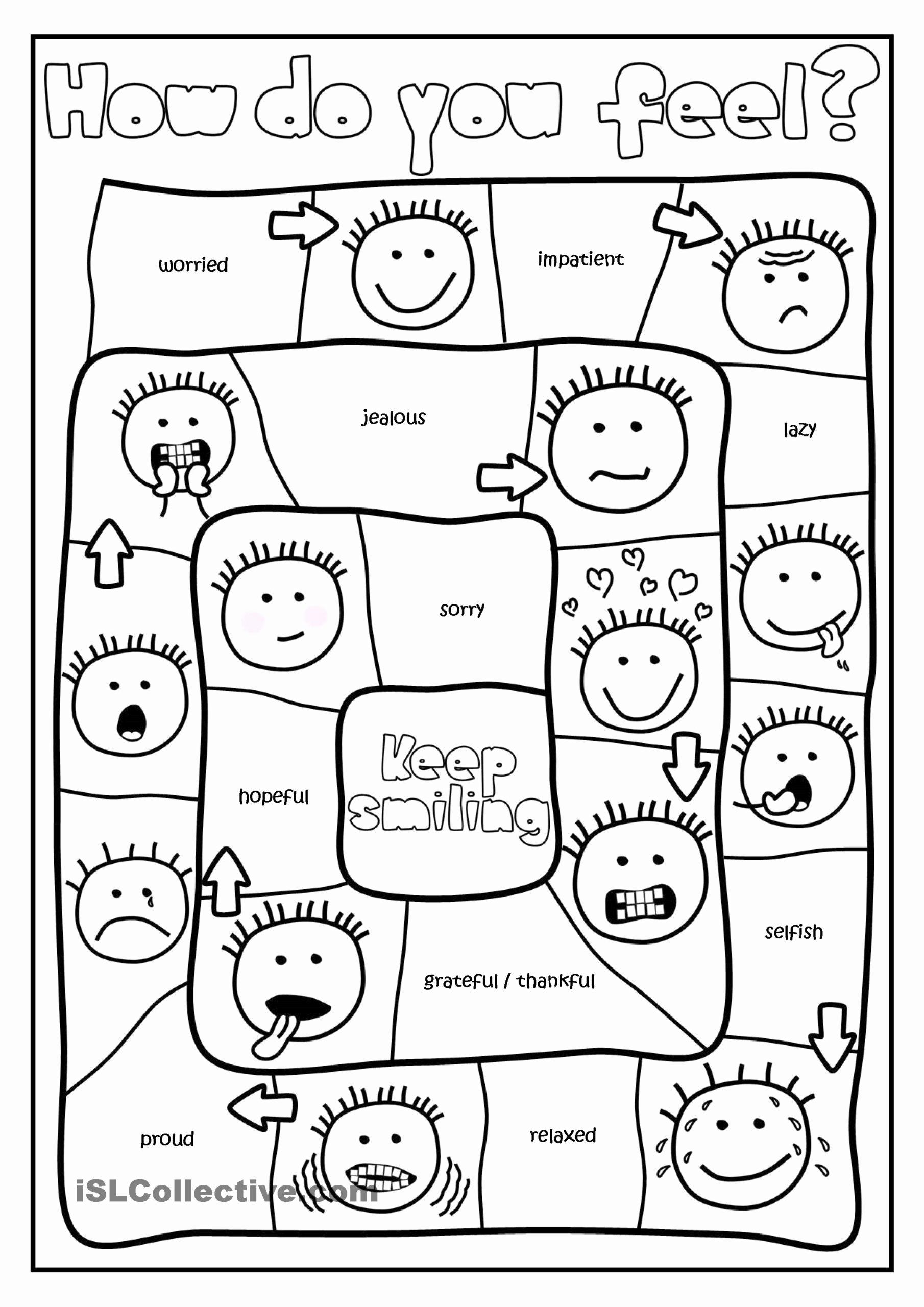 Emotions Worksheets for Preschoolers Lovely Free Printable Feelings Worksheets for Preschoolers