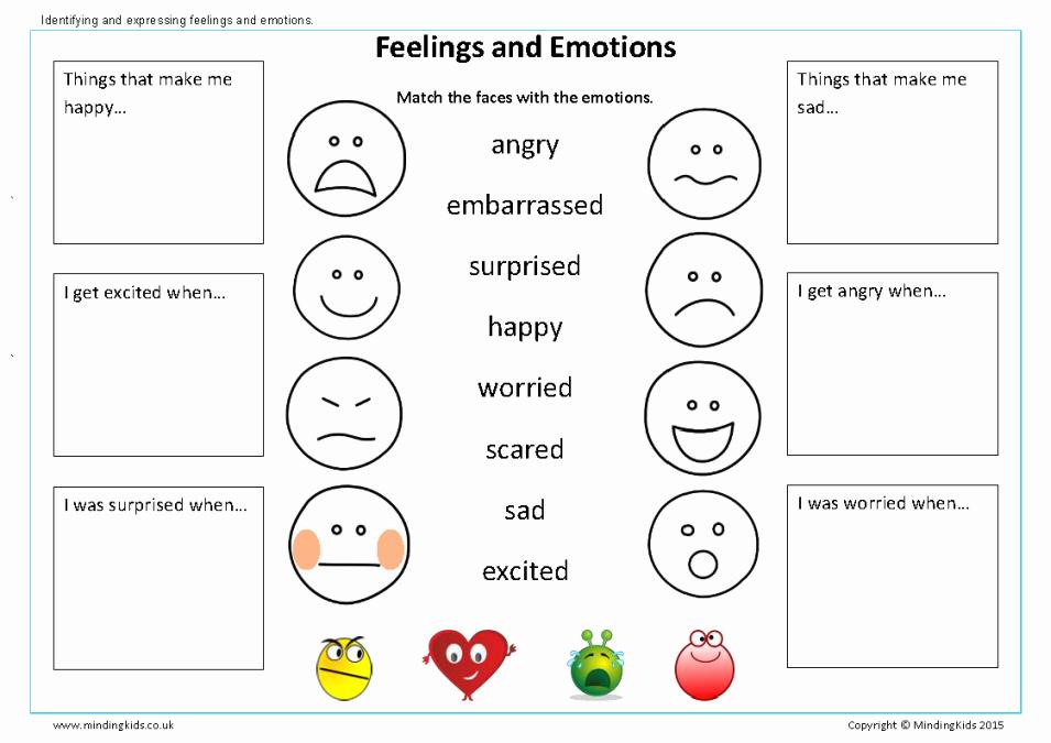Emotions Worksheets for Preschoolers Lovely Ready for School Workbook Mindingkids