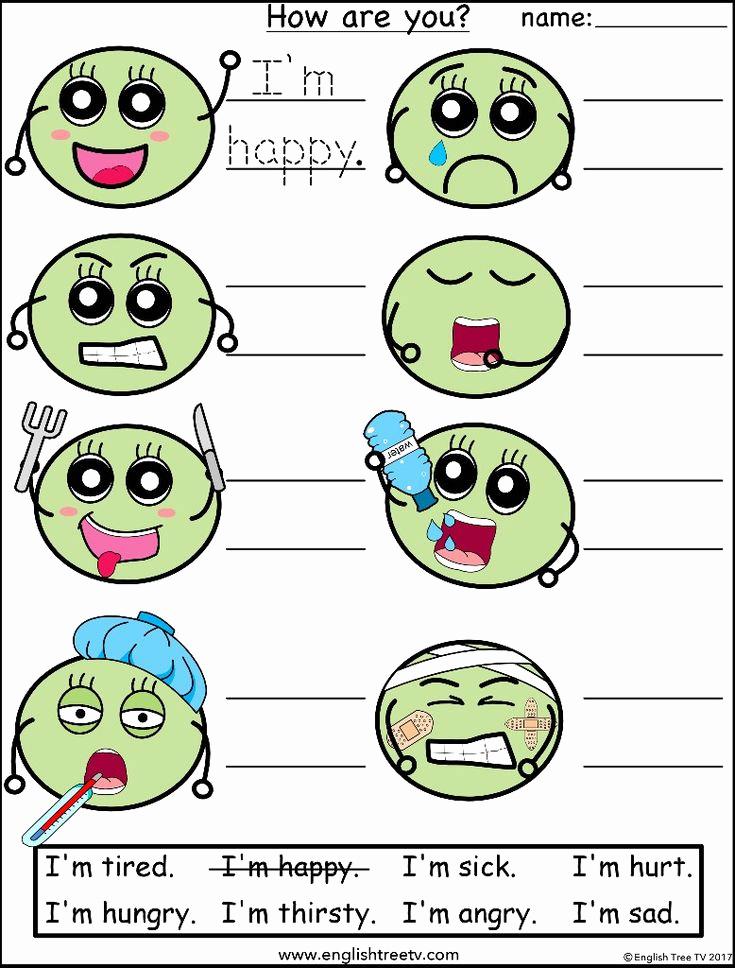 Emotions Worksheets for Preschoolers Luxury A Worksheet to Practice Identifying and Writing Feelings