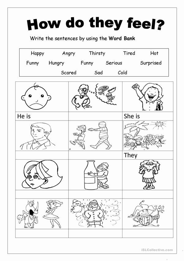 Emotions Worksheets for Preschoolers Luxury Feelings Worksheet Free Esl Printable Worksheets Made by