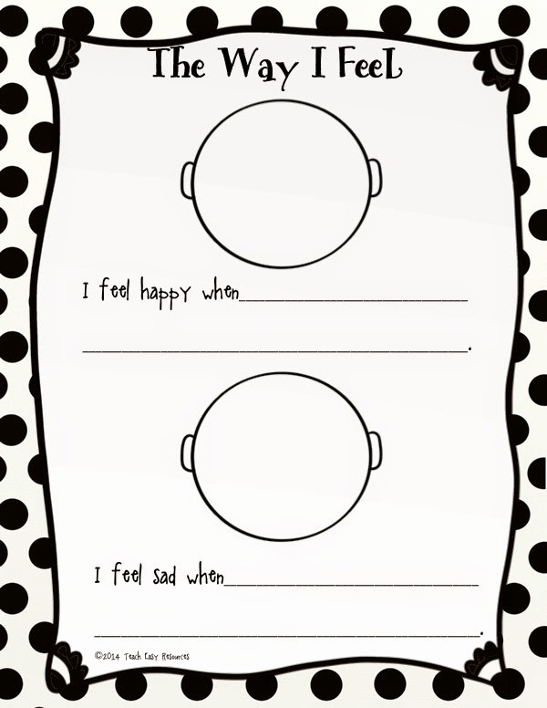 Emotions Worksheets for Preschoolers New Teach Easy Resources Picture Book About Feelings and A