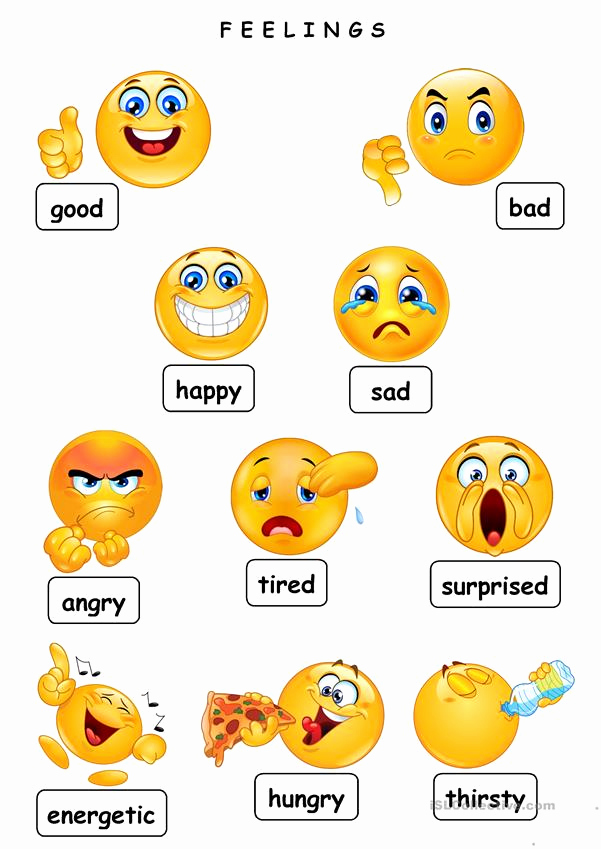 Emotions Worksheets for Preschoolers Unique Feelings English Esl Worksheets for Distance Learning