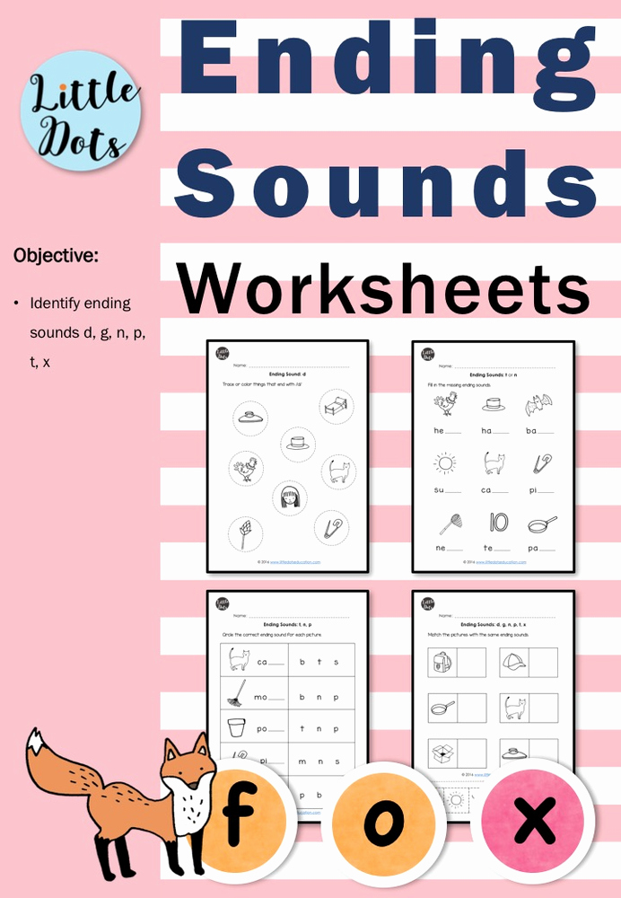 Ending sound Worksheets Free Awesome Ending sounds Worksheets and Activities