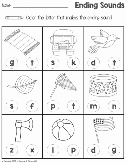 Ending sound Worksheets Free Beautiful Ending sounds Worksheet