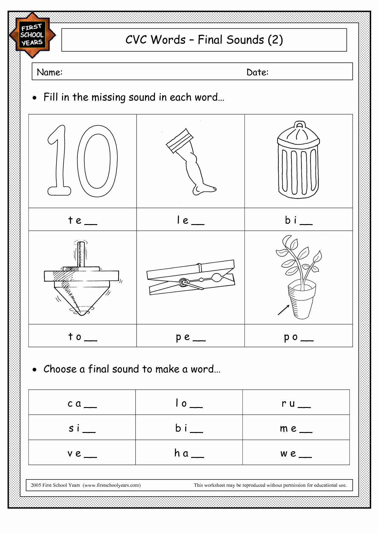 Ending sound Worksheets Free Fresh Ending sound Worksheet
