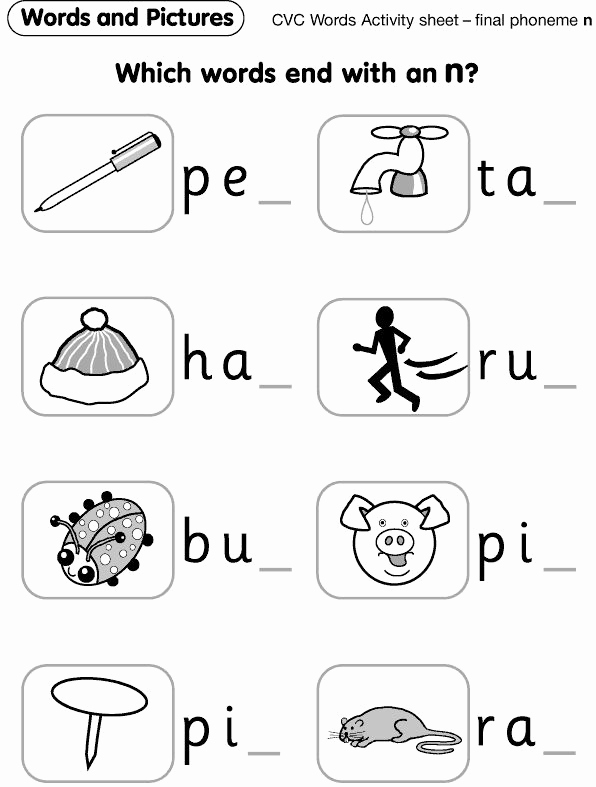 Ending sound Worksheets Free New 66 Worksheetfun Ending sounds