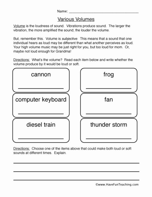 Energy 4th Grade Worksheets New 20 sound Energy Worksheets 4th Grade
