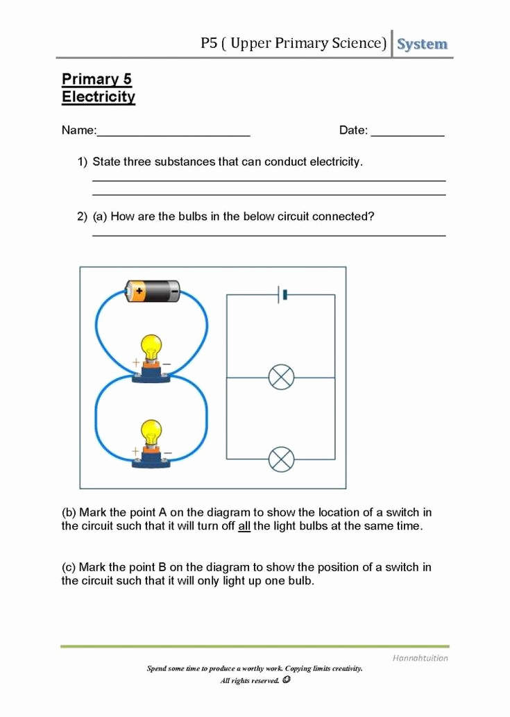 Energy 4th Grade Worksheets Unique 16 Simple Circuit Worksheet 4th Grade In 2020