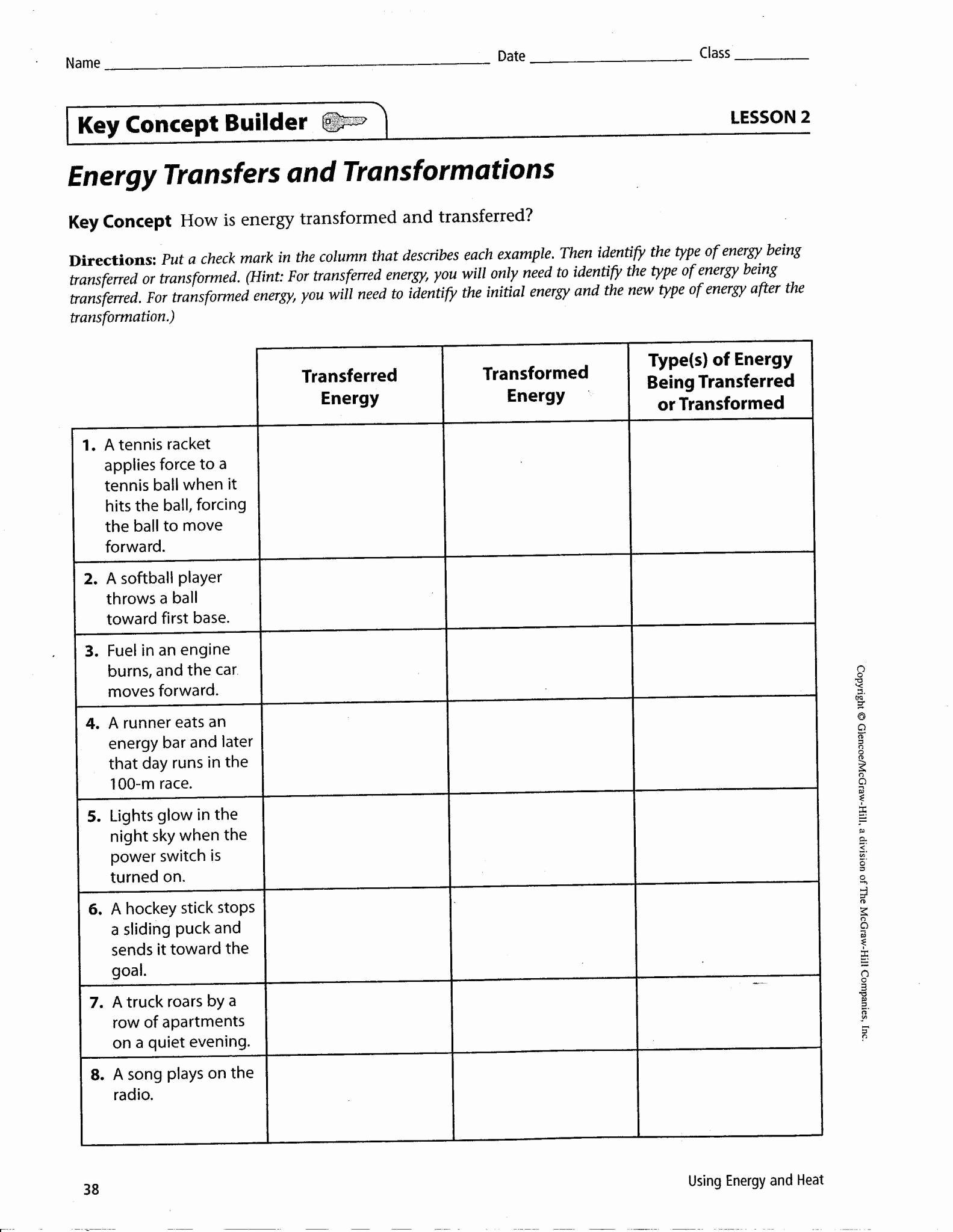 Energy Worksheets Middle School Pdf Beautiful 20 Energy Transformation Worksheet Middle School