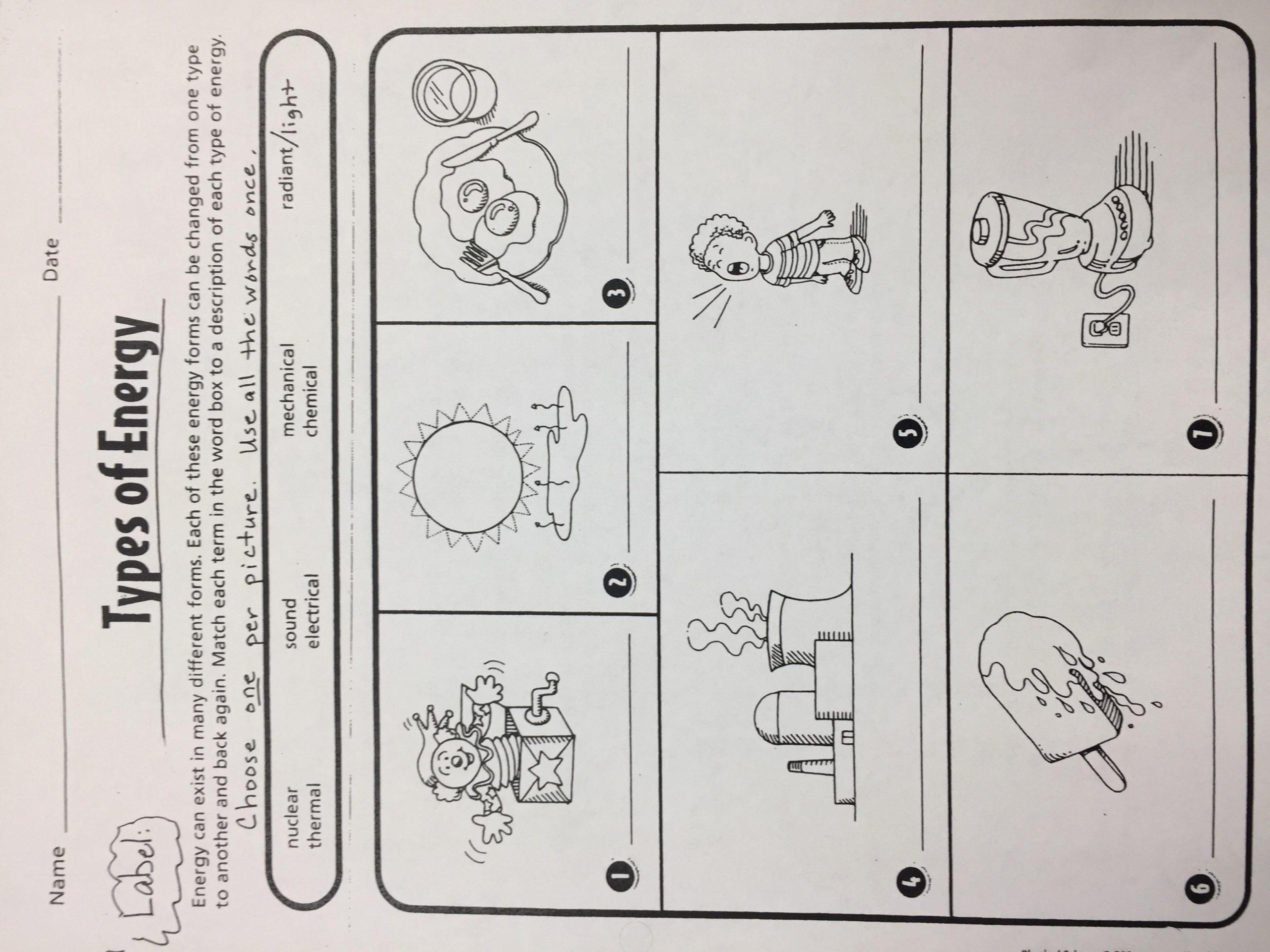 Energy Worksheets Middle School Pdf Inspirational forms Energy Worksheet Worksheet List
