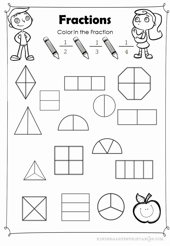 Equivalent Fractions Coloring Worksheet Elegant Color the Fractions