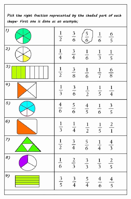 Equivalent Fractions Coloring Worksheet Elegant Free Printable Fractions Worksheets for 2019