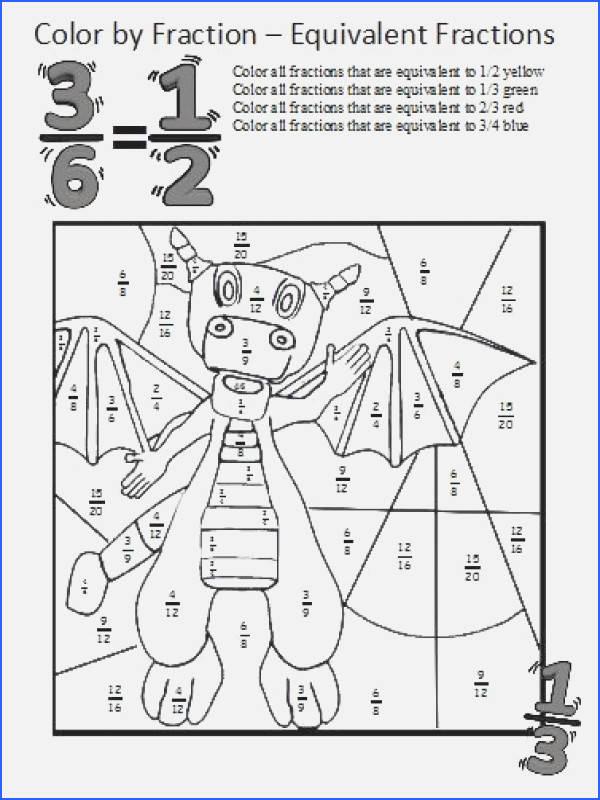 Equivalent Fractions Coloring Worksheet Fresh Equivalent Fractions Worksheet 4th Grade