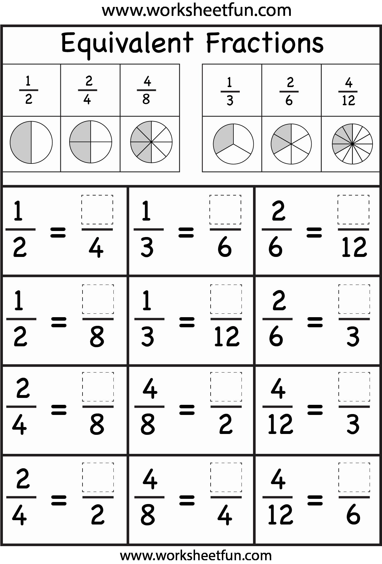 Equivalent Fractions Coloring Worksheet Inspirational Equivalent Fractions Worksheet Free Printable Worksheets