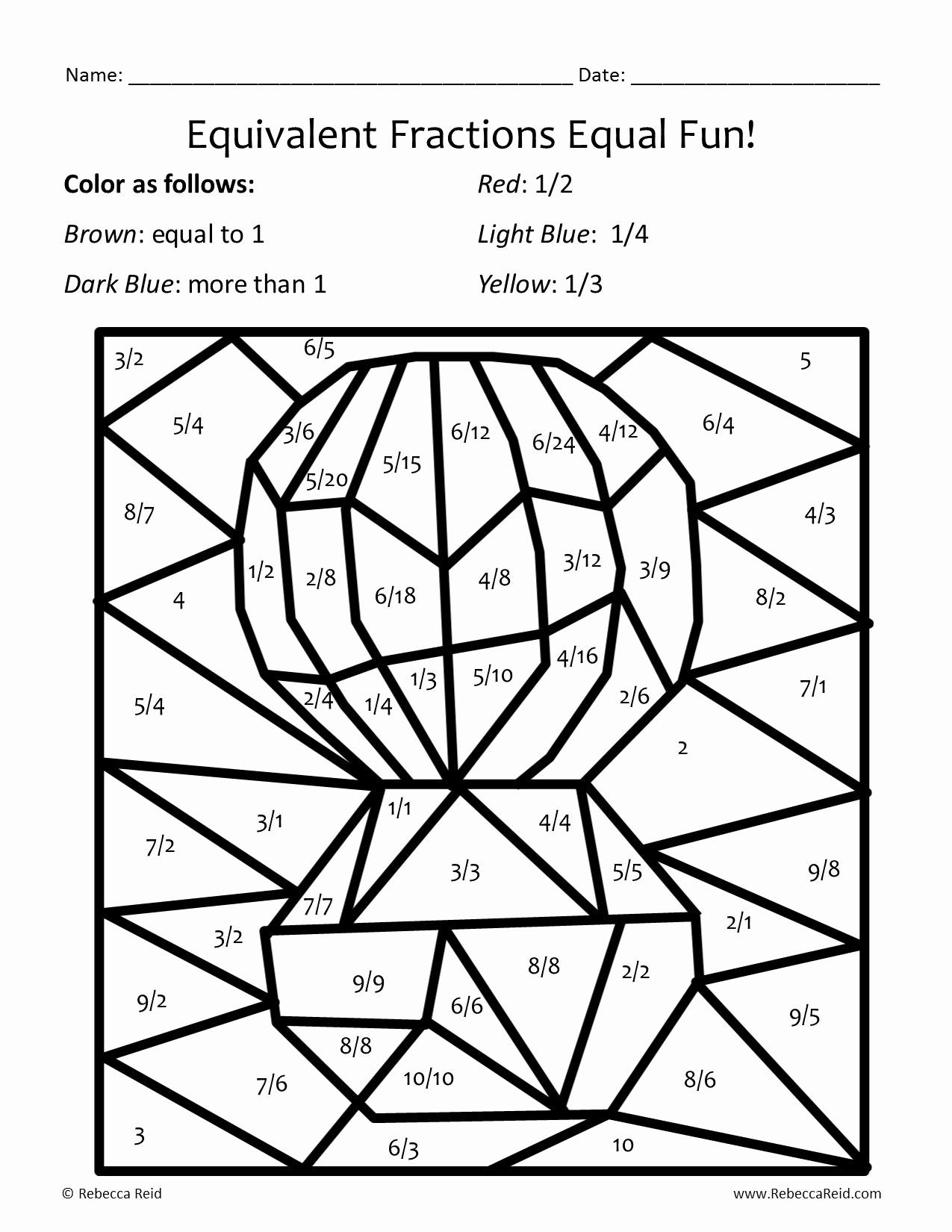 Equivalent Fractions Coloring Worksheet Lovely Fraction Coloring Sheets Coloring Pages