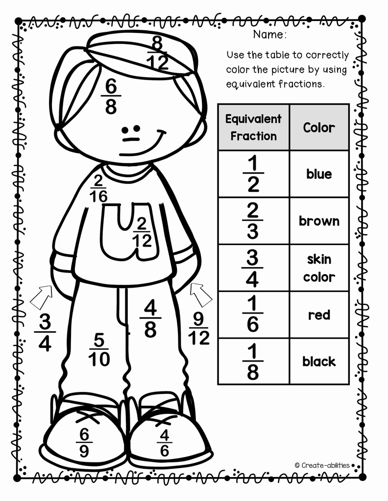 Equivalent Fractions Coloring Worksheet Luxury Multiplying Fractions Sheet Coloring Pages