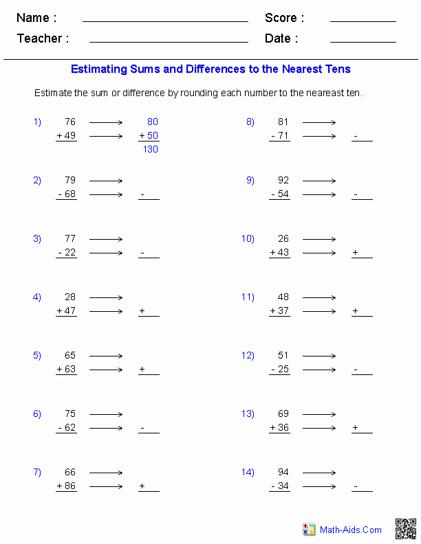 Estimation Worksheets for 3rd Grade New 12 Best Of Number Family Worksheets Repeated