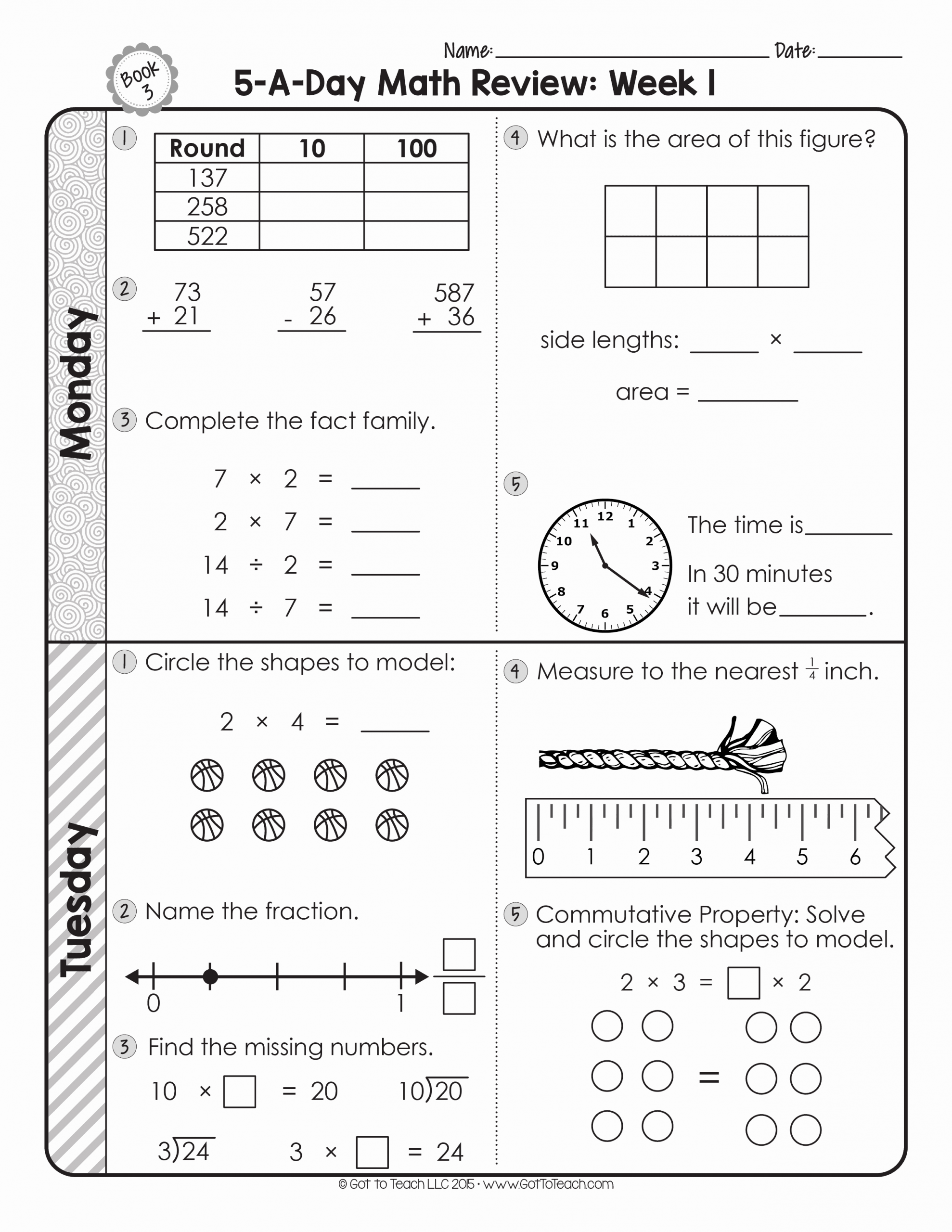 Estimation Worksheets for 3rd Grade Unique 3rd Grade Daily Math Spiral Review • Teacher Thrive