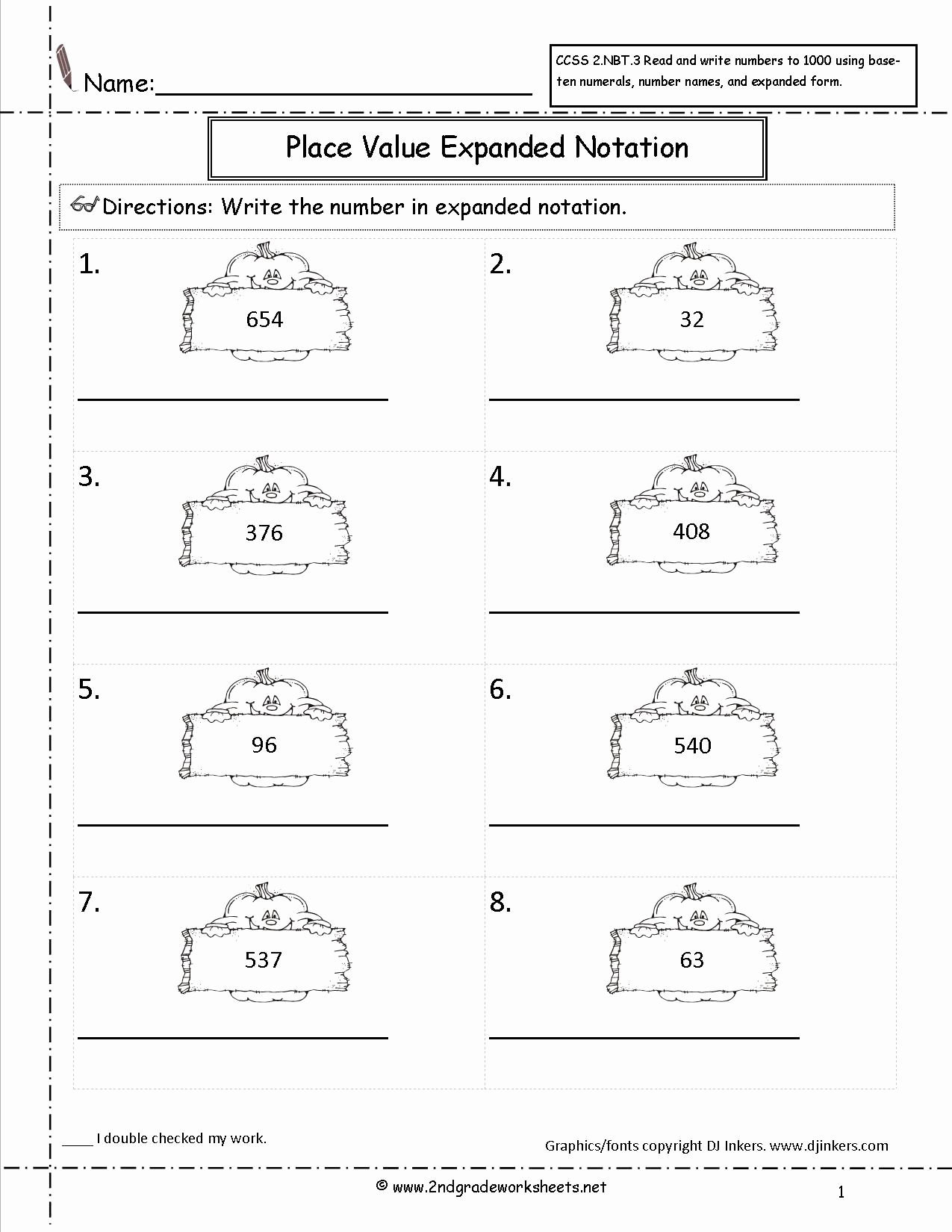 Expanded form Worksheets 1st Grade Elegant 12 Best Of Pumpkin Addition Worksheet Repeated