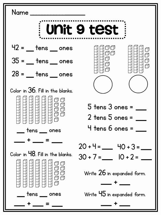 Expanded form Worksheets 1st Grade Elegant Place Value In First Grade