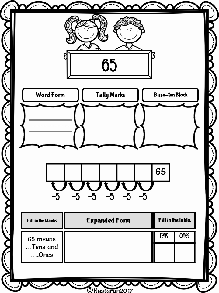 Expanded form Worksheets 1st Grade Fresh Place Value Worksheets 1st Grade Nastaran S Resources