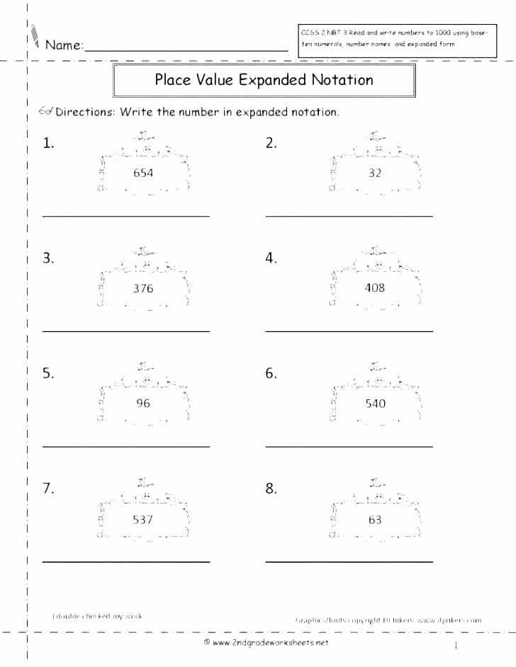 Expanded Notation Worksheets Awesome Expanded Notation Worksheets 3rd Grade Expanded form