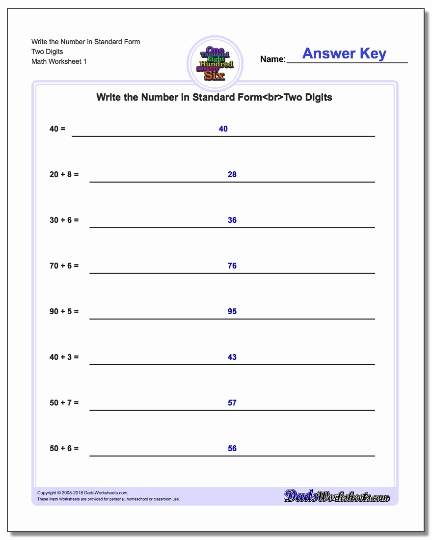 Expanded Notation Worksheets Elegant 3 Digit Expanded form Addition A Free Printable