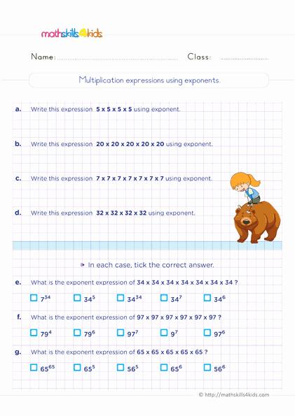 Exponents Worksheets 6th Grade Pdf Fresh 6th Grade Exponents and Square Roots Worksheets Pdf