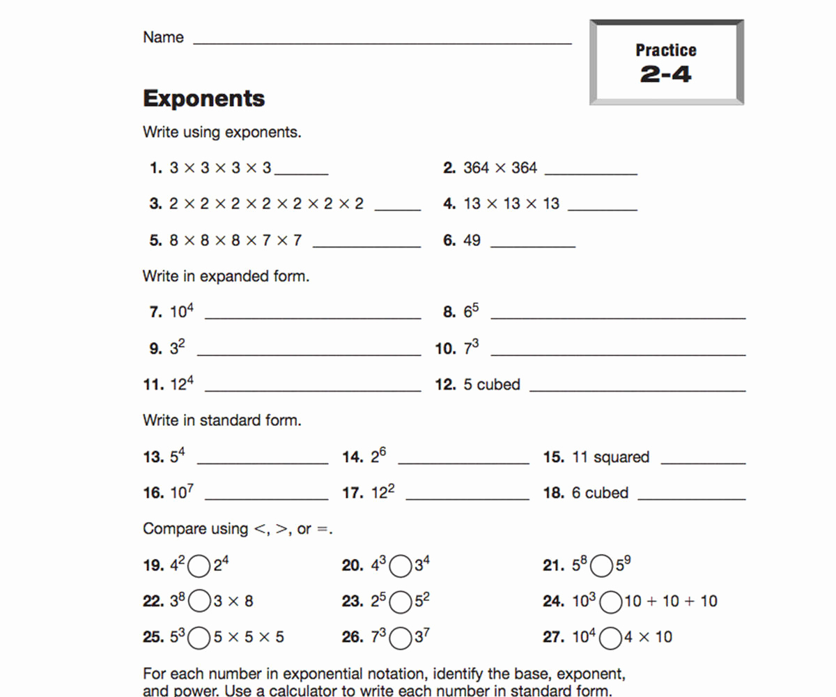 Exponents Worksheets 6th Grade Pdf Lovely Made by Teachers Grade 10 Exponents