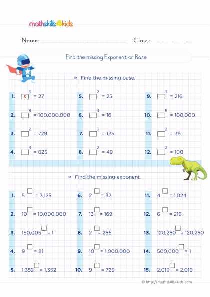 Exponents Worksheets 6th Grade Pdf Luxury 6th Grade Exponents and Square Roots Worksheets Pdf