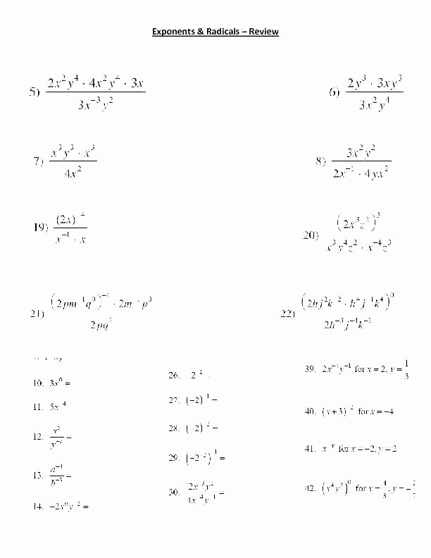 Exponents Worksheets 6th Grade Pdf Luxury Exponents Worksheets 6th Grade Pdf order Operations