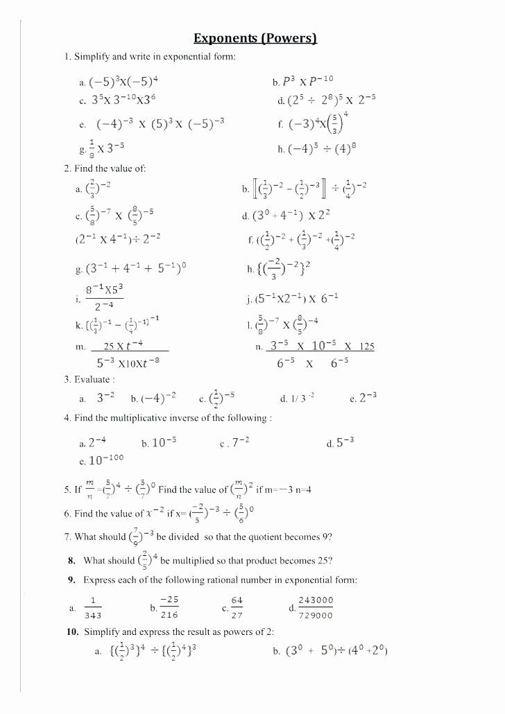 Exponents Worksheets 6th Grade Pdf New Exponents Worksheets 6th Grade Pdf Grade Exponents