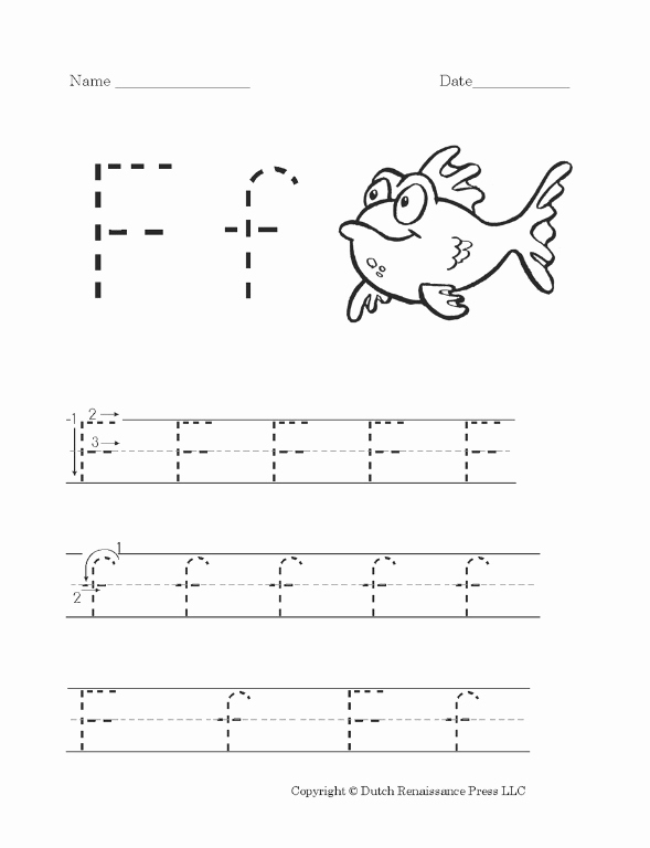 F Worksheets for Preschool Awesome Free Printable Letter F Worksheet for Preschool