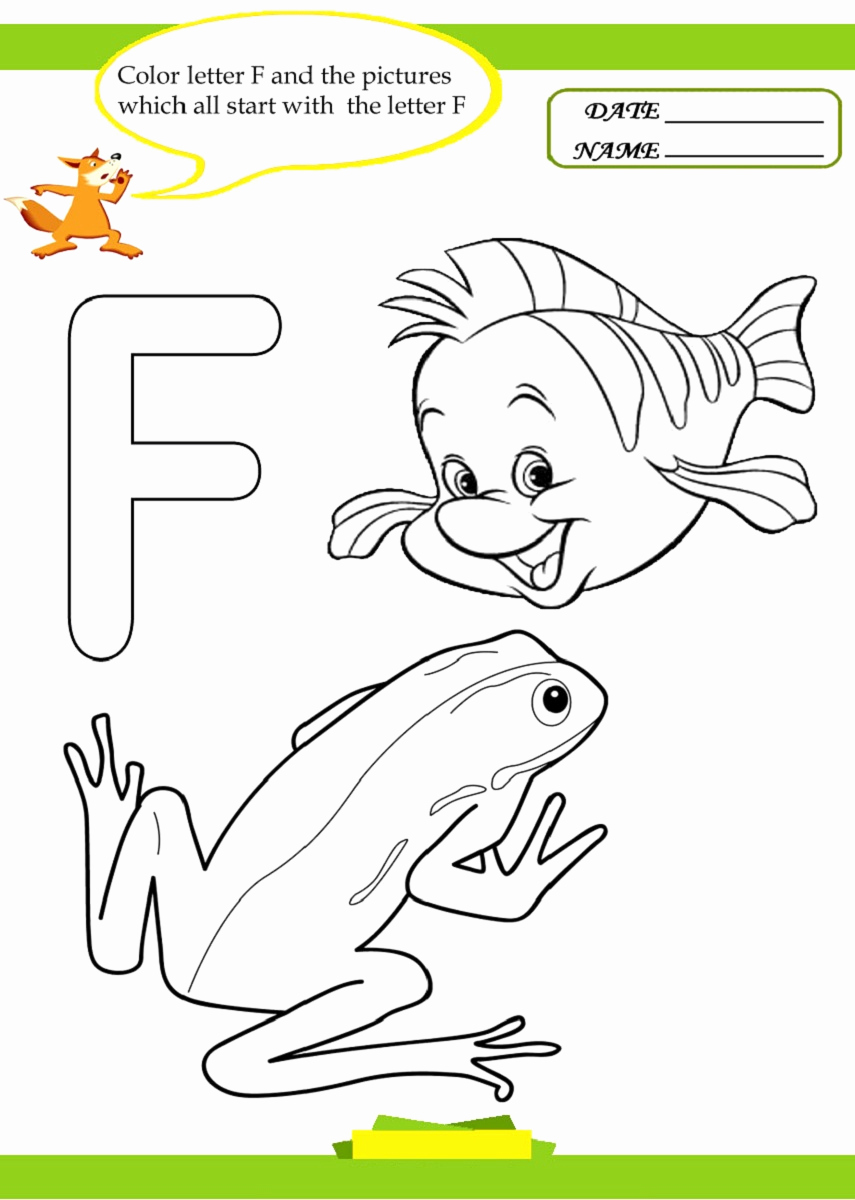 F Worksheets for Preschool Awesome Letter F Worksheet for Preschool and Kindergarten