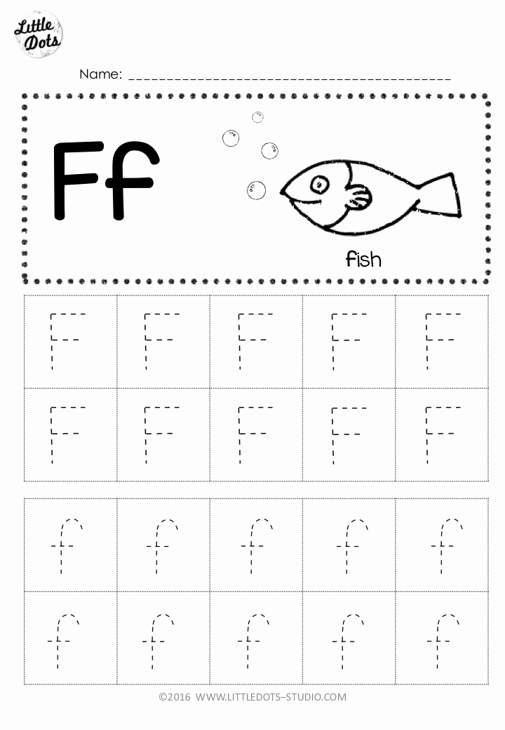 F Worksheets for Preschool Beautiful Free Letter F Tracing Worksheets