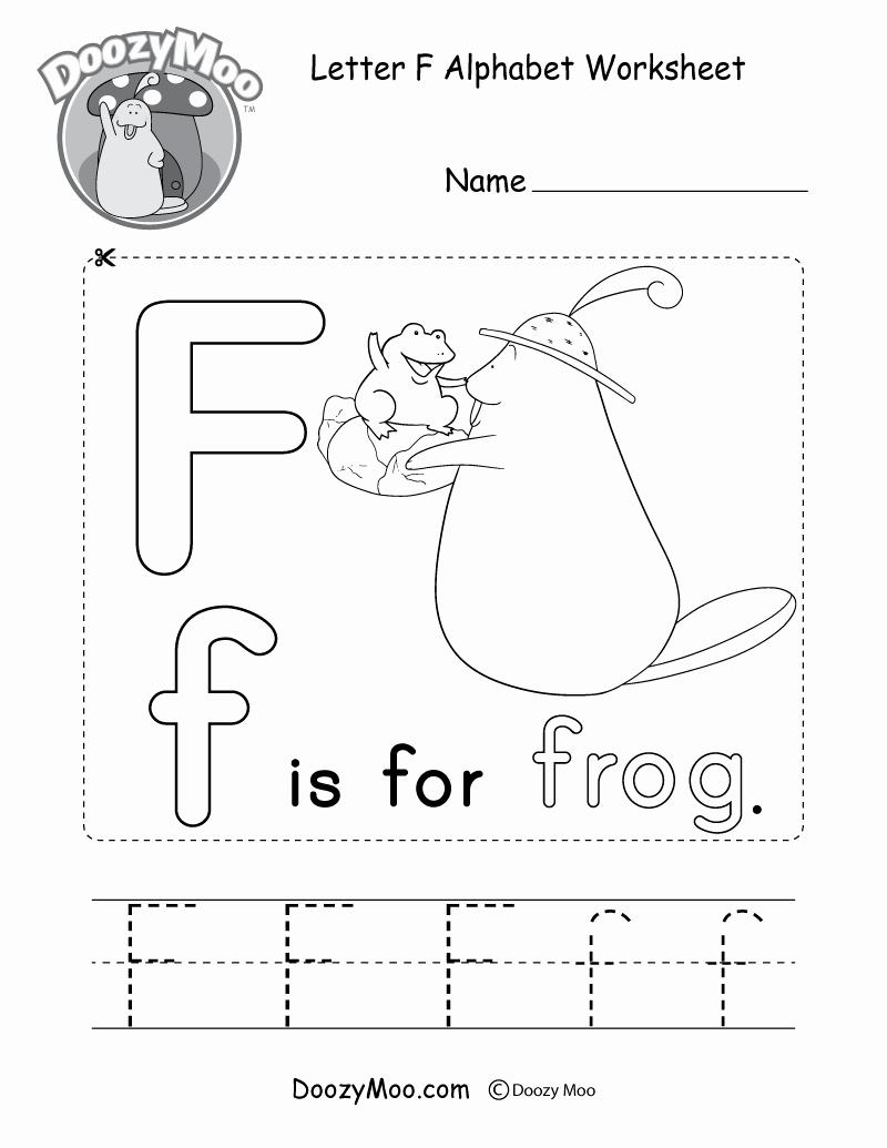 F Worksheets for Preschool Beautiful Letter F Alphabet Activity Worksheet Doozy Moo