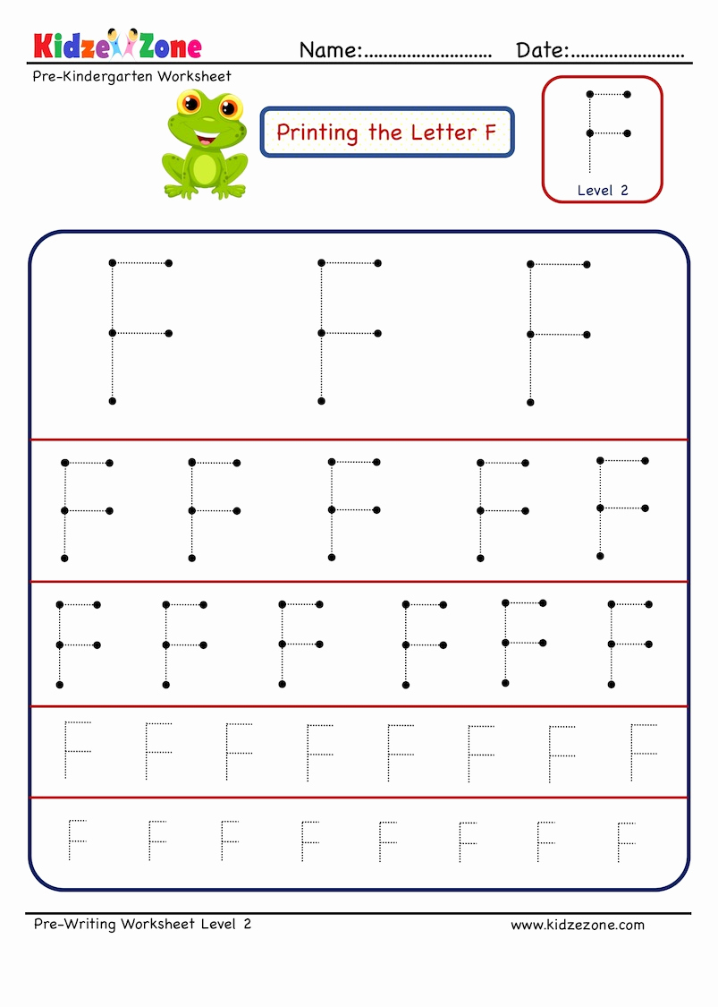 F Worksheets for Preschool Beautiful Letter F Tracing Worksheet Different Sizes Kidzezone