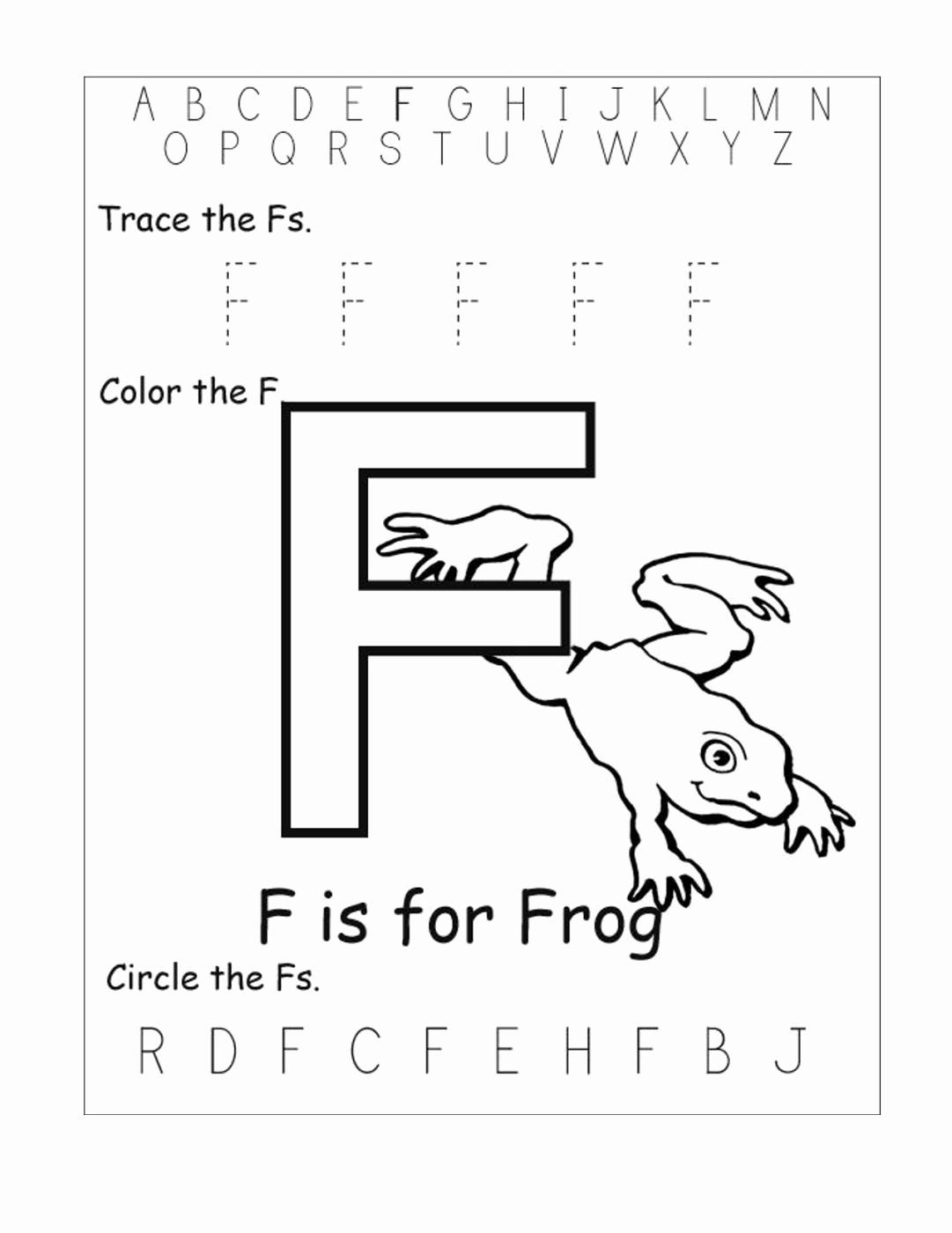 F Worksheets for Preschool Best Of 15 Useful Letter F Worksheets for toddlers