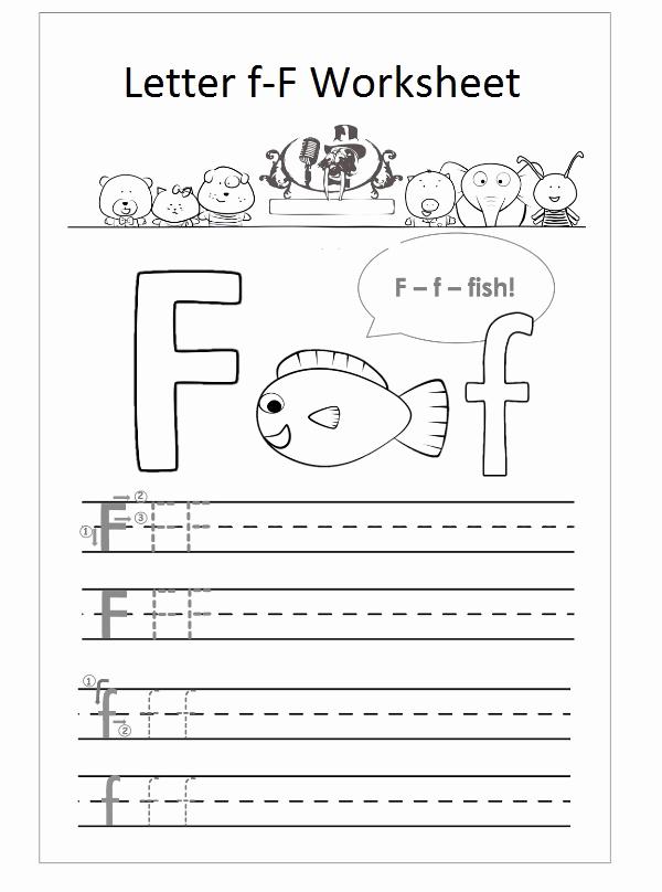 F Worksheets for Preschool Luxury Letter F Worksheet Preschool F is Fish Preschool Crafts