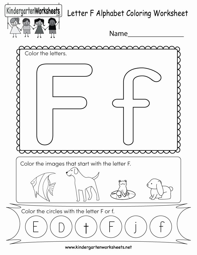 F Worksheets for Preschool New Letter F Coloring Worksheet Free Kindergarten English