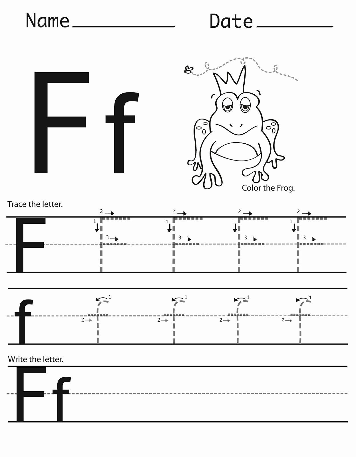 F Worksheets for Preschool Unique Letter F Worksheet for Preschool and Kindergarten