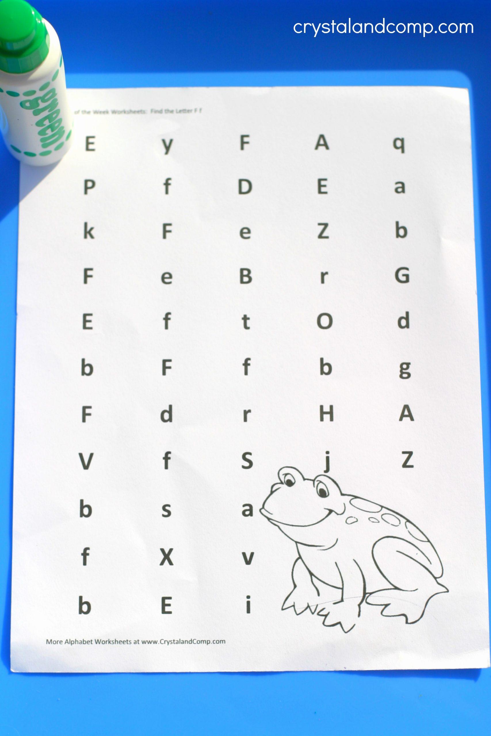 F Worksheets for Preschool Unique Preschool Letter Worksheets F is for Frog