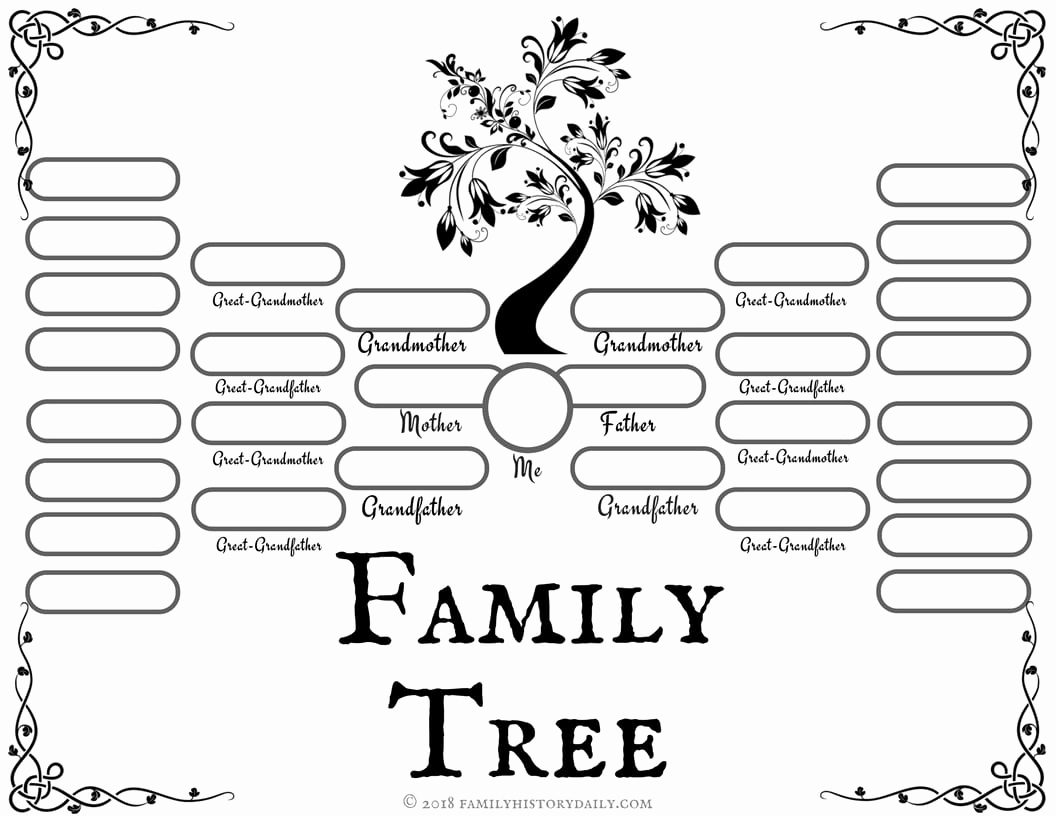 Family Tree Worksheets for Kids Beautiful 4 Free Family Tree Templates for Genealogy Craft or
