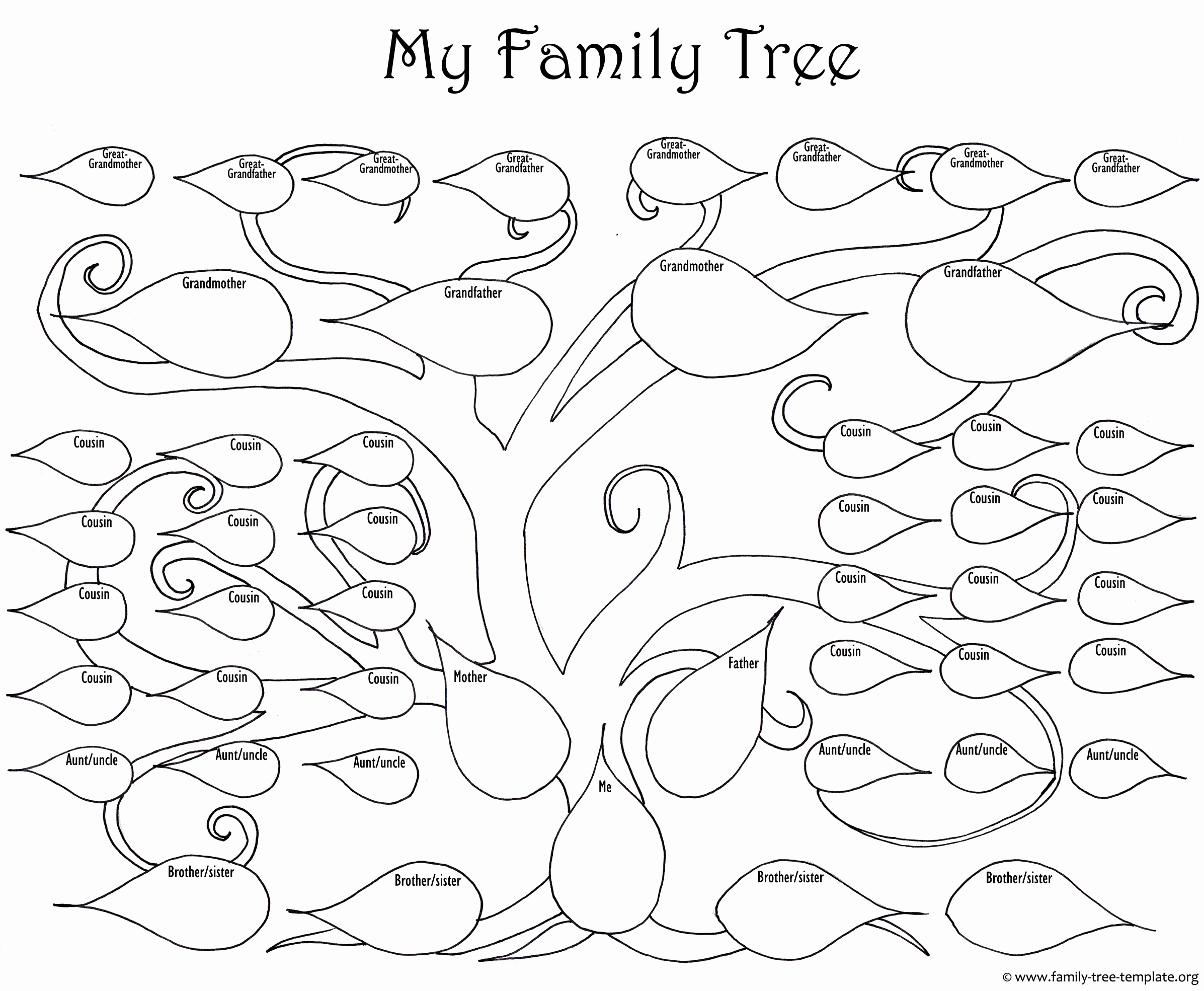 Family Tree Worksheets for Kids Beautiful A Printable Blank Family Tree to Make Your Kids Genealogy