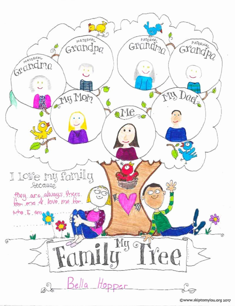 Family Tree Worksheets for Kids Beautiful Free Printable Family Tree Coloring Page