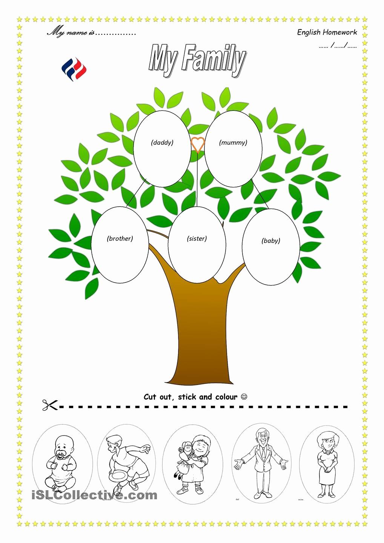 Family Tree Worksheets for Kids Best Of Family Worksheets for Kindergarten