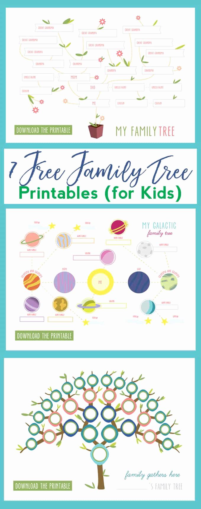 Family Tree Worksheets for Kids Elegant 7 Free Family Tree Printables