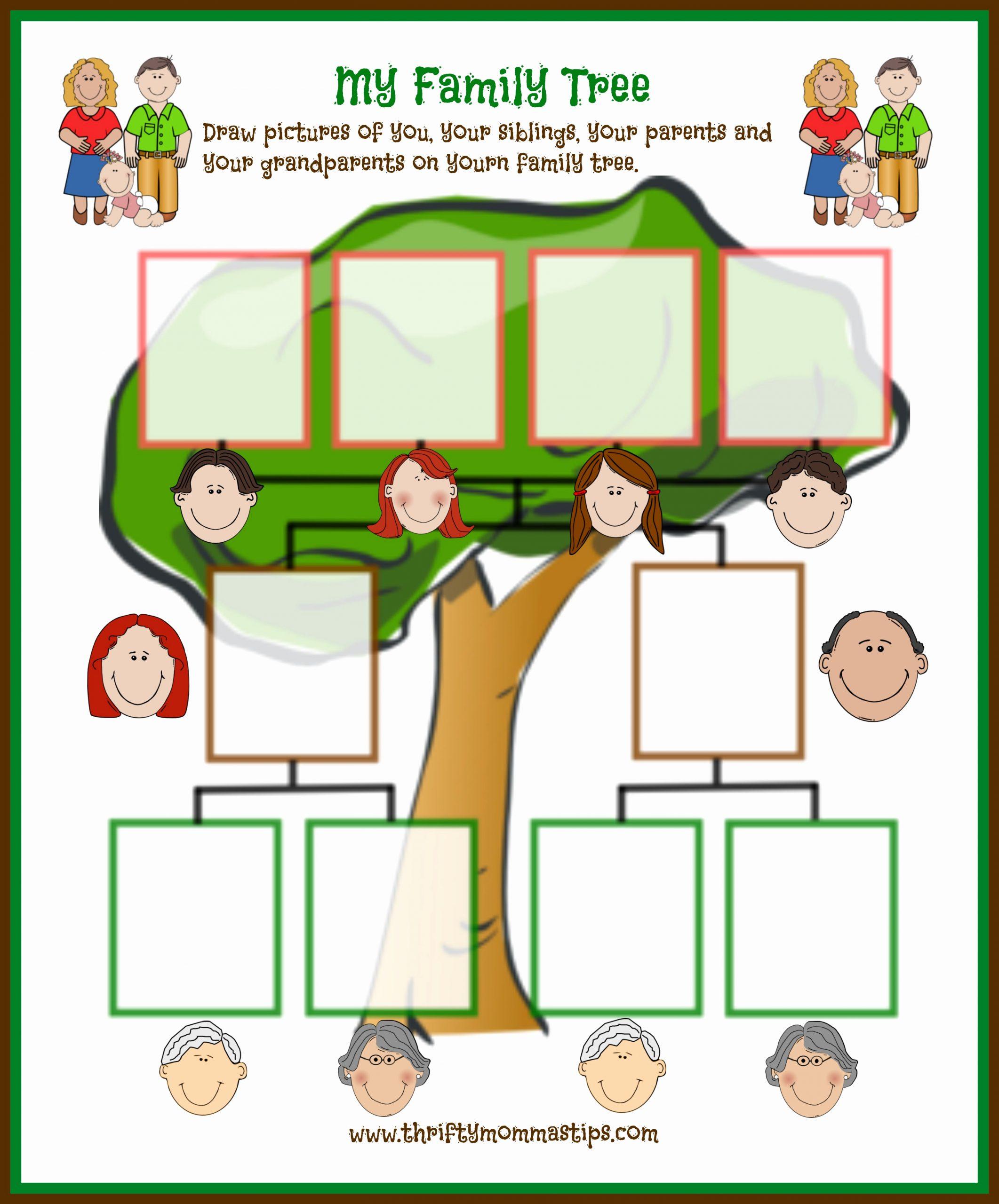 Family Tree Worksheets for Kids Elegant Family Tree Printable