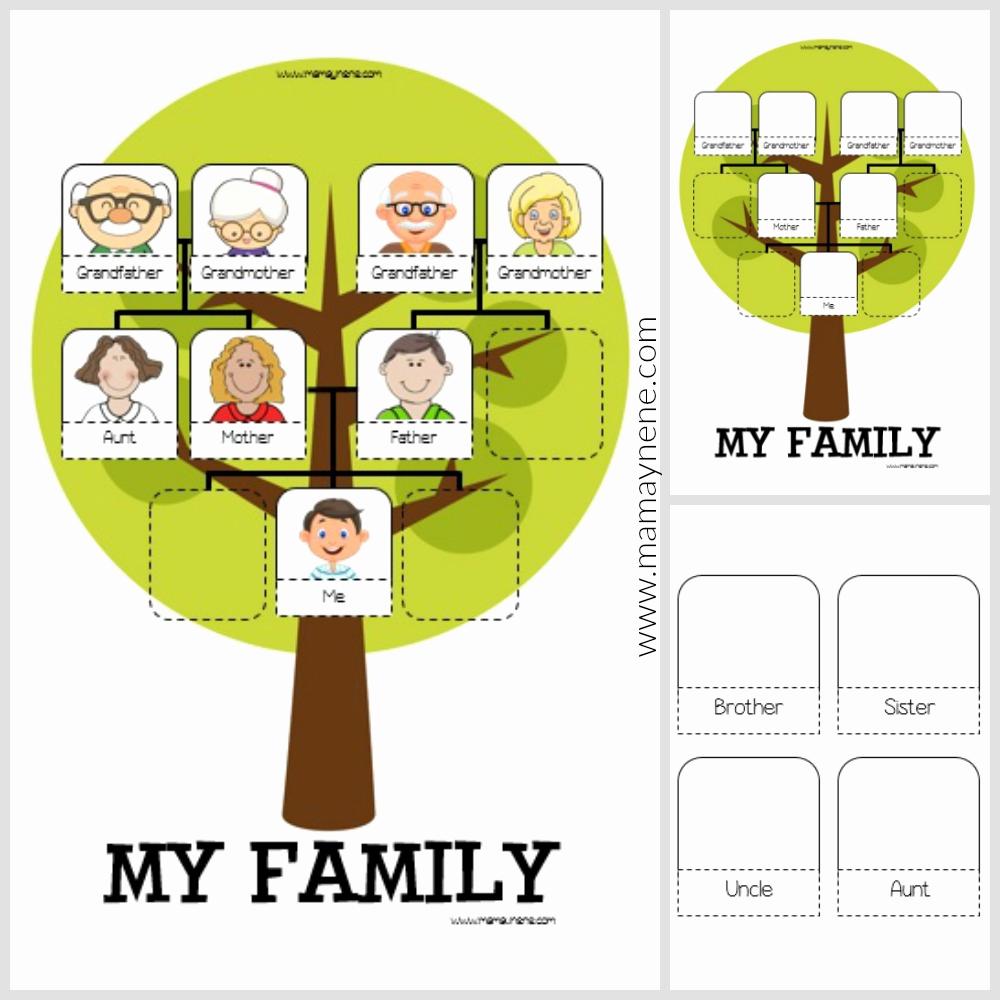 Family Tree Worksheets for Kids Elegant My Family Tree Worksheet for Kids